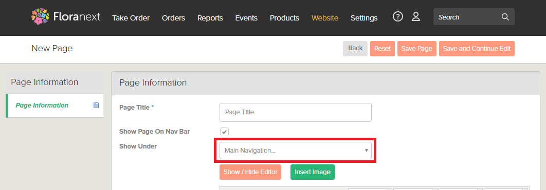Website Content Design Nesting Pages In Nav Bar Floranext